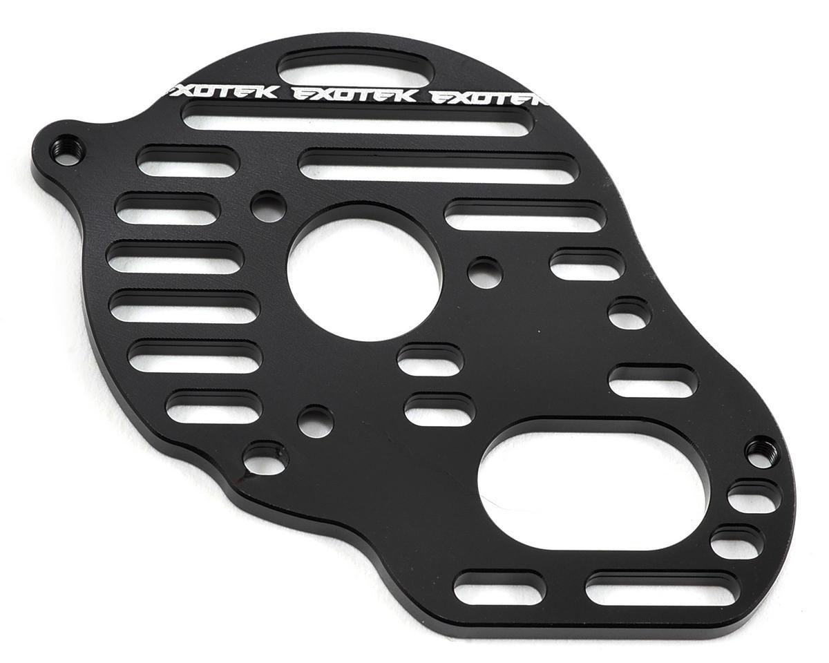 "Exotek B5/B5M ""Flite"" Aluminum Vented Motor Plate (Black) (4-Gear)"