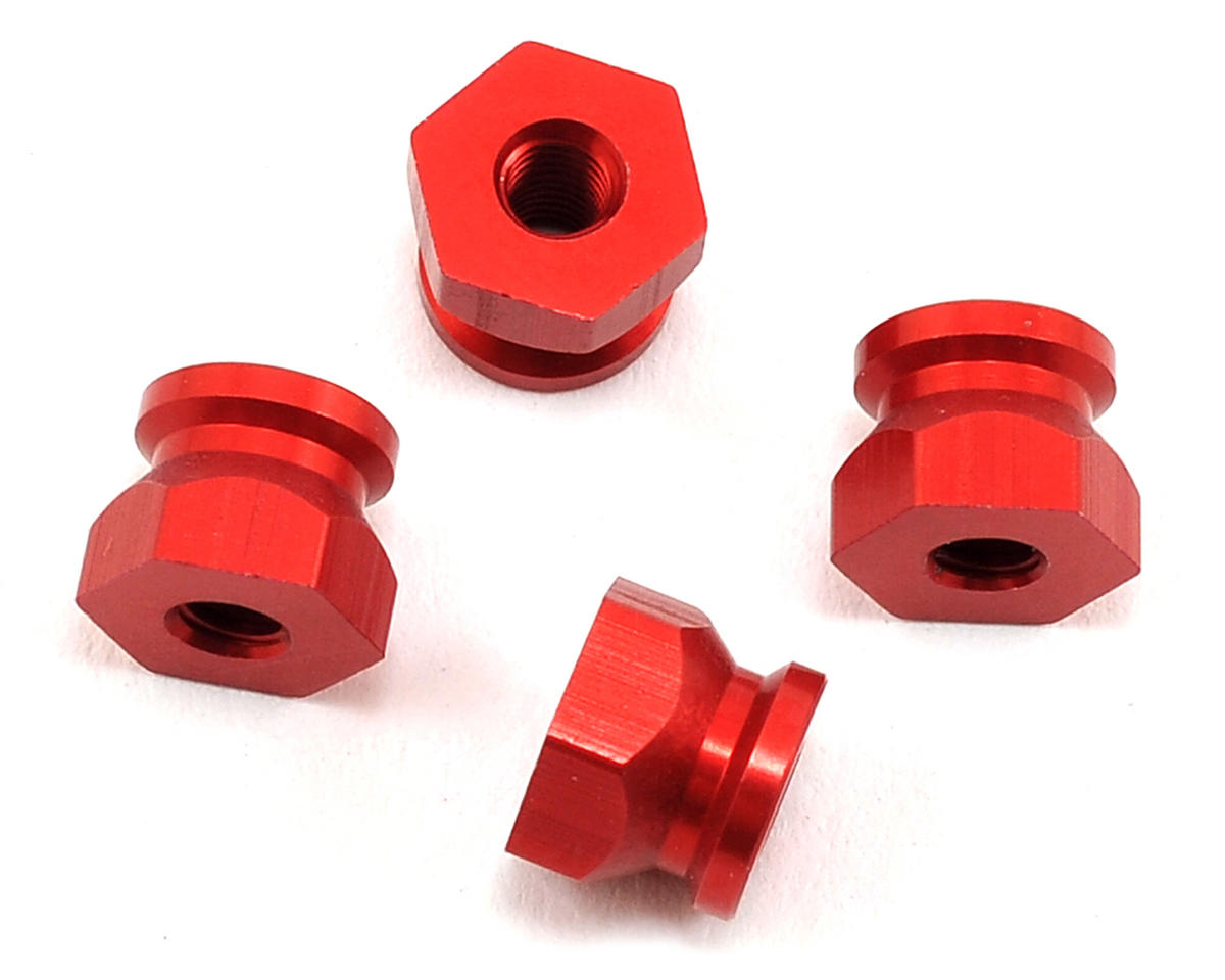 Exotek Racing Mini 8IGHT Aluminum Shock Post Set (Red) (4) (Losi 8IGHT-T)