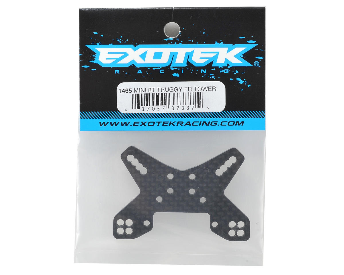 Exotek Mini 8IGHT-T 3mm Carbon Front Shock Tower