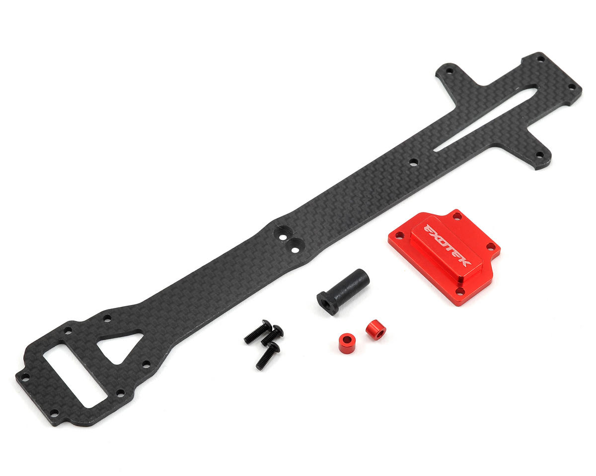 Exotek Losi Mini 8IGHT-T Carbon Top Plate Set