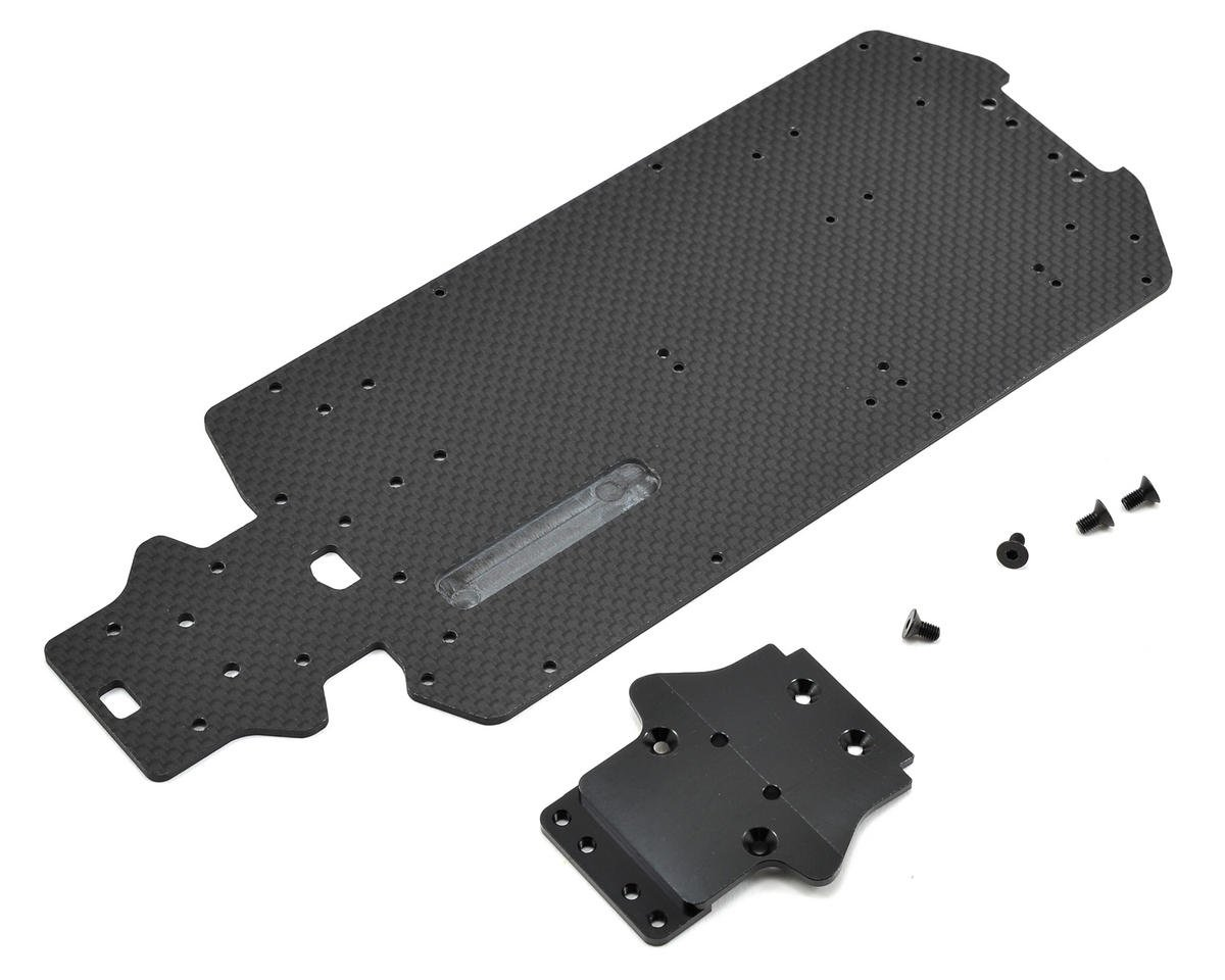 Exotek Losi Mini 8IGHT-T Carbon Bottom Plate Set