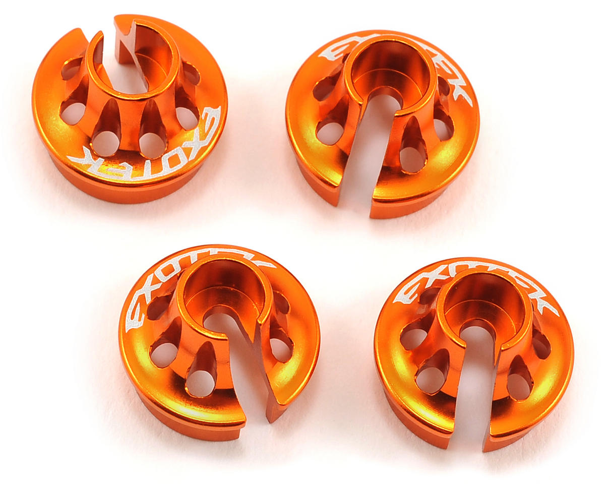 Exotek Racing HB D413 Shock Spring Perch Set (4) (Orange)