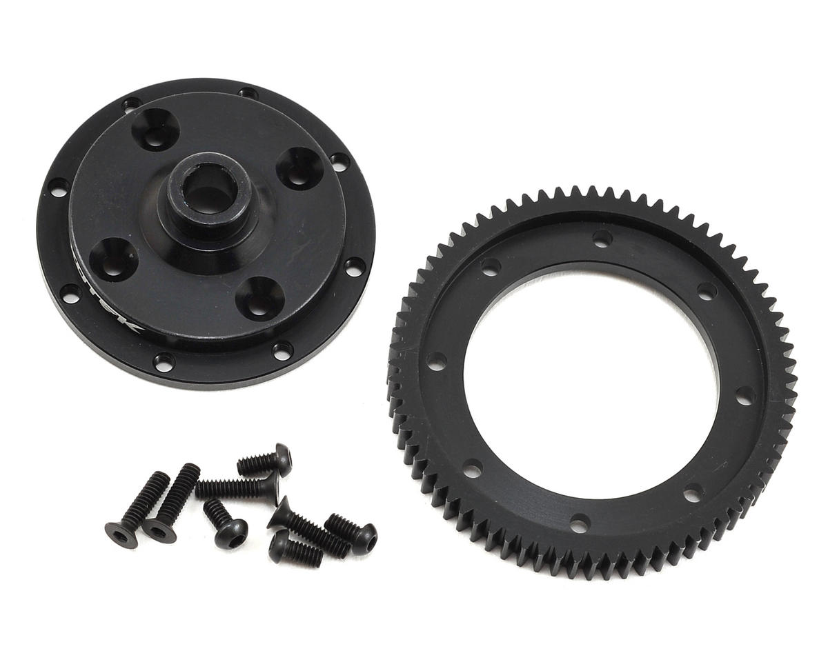 Exotek HB Racing D413 Machined Spur Gear & Mounting Plate Set (72T)