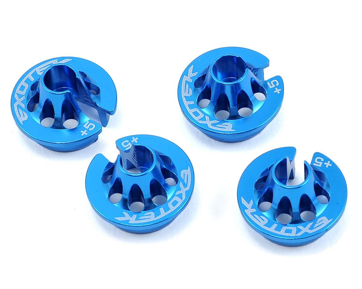 Exotek Racing +5 Aluminum B5/B44.3 Spring Cup Set (Blue) (4)