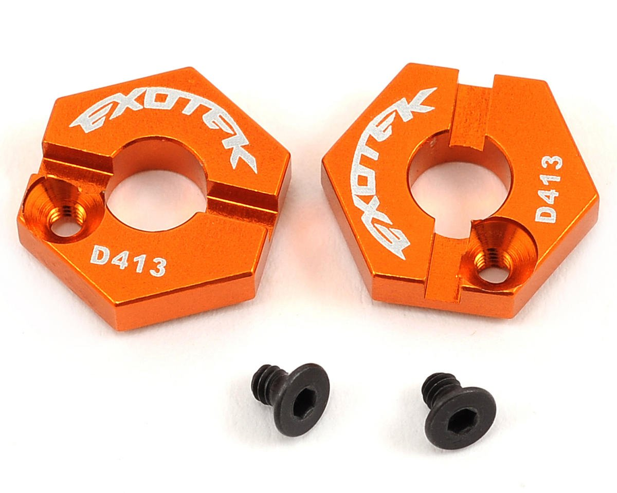 Exotek D413 12mm Aluminum Front Locking Hex Set (Orange)