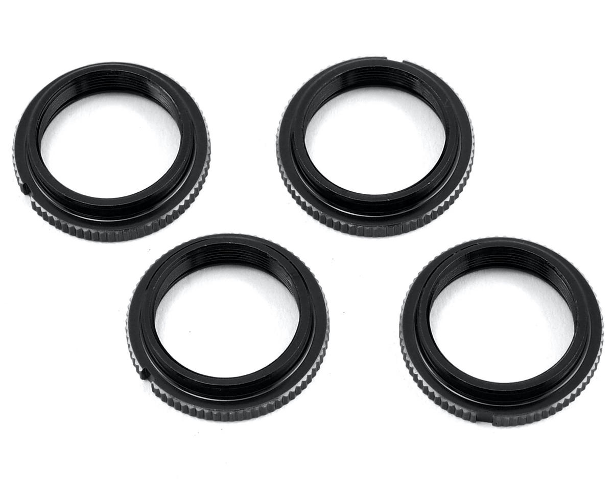 Exotek Racing 12mm Notched Threaded Spring Collar (Black) (2)