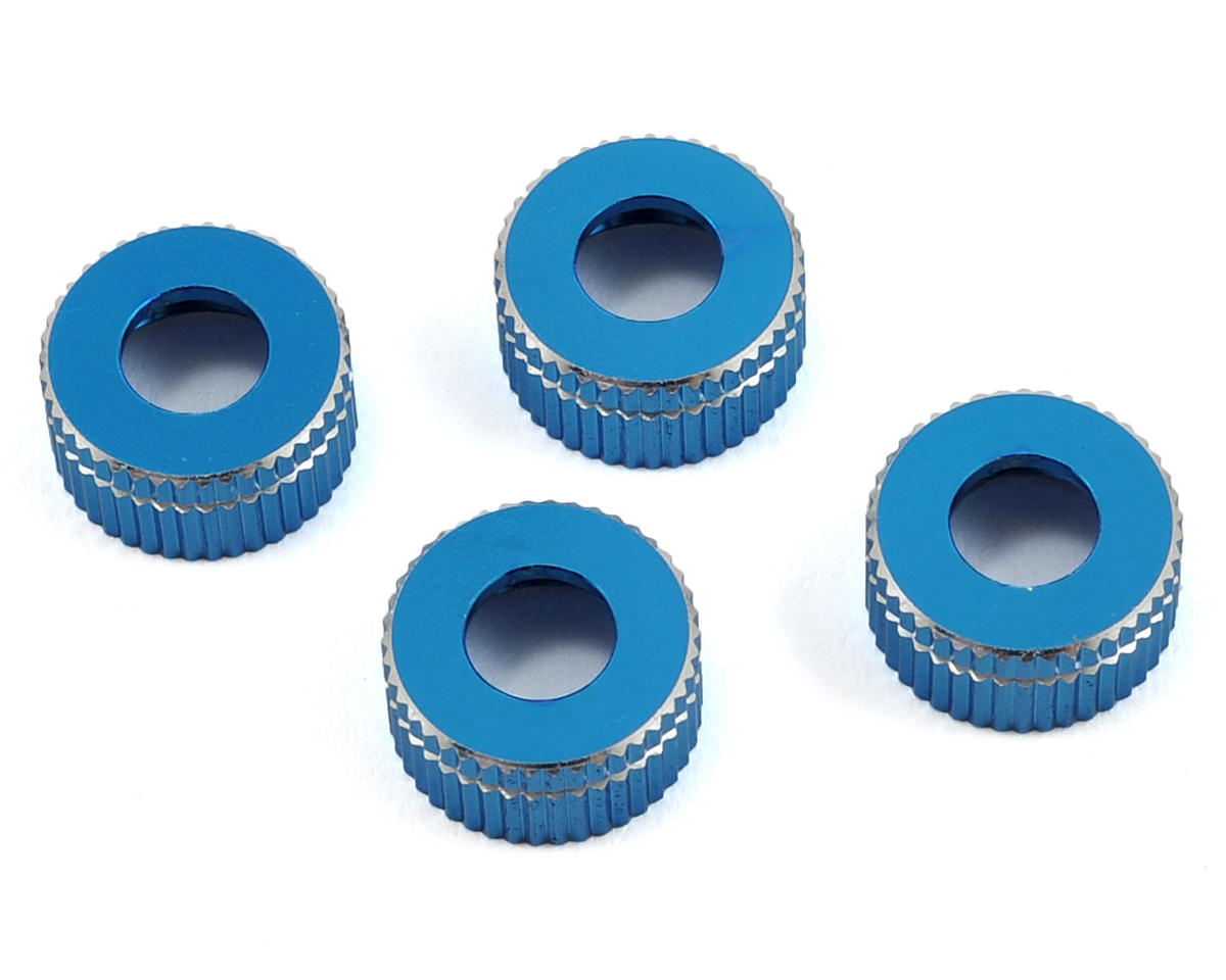 Exotek 12mm Aluminum Lower Shock Cap (Blue) (2)