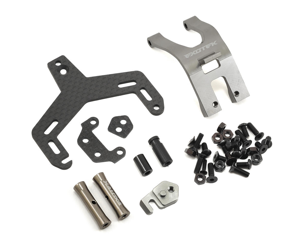 Exotek Racing EXO22T TLR 22T/22T 2.0 Aluminum Mid Motor Chassis Set