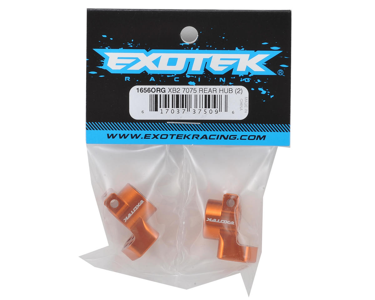 Exotek Racing XB2 Aluminum Rear Hub Set (2) (Orange)