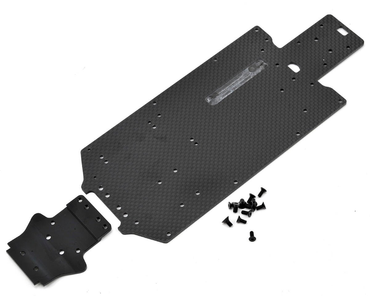 Exotek Racing Mini 8IGHT Rally/Desert Truck Carbon Bottom Plate (Losi Desert 4wd)