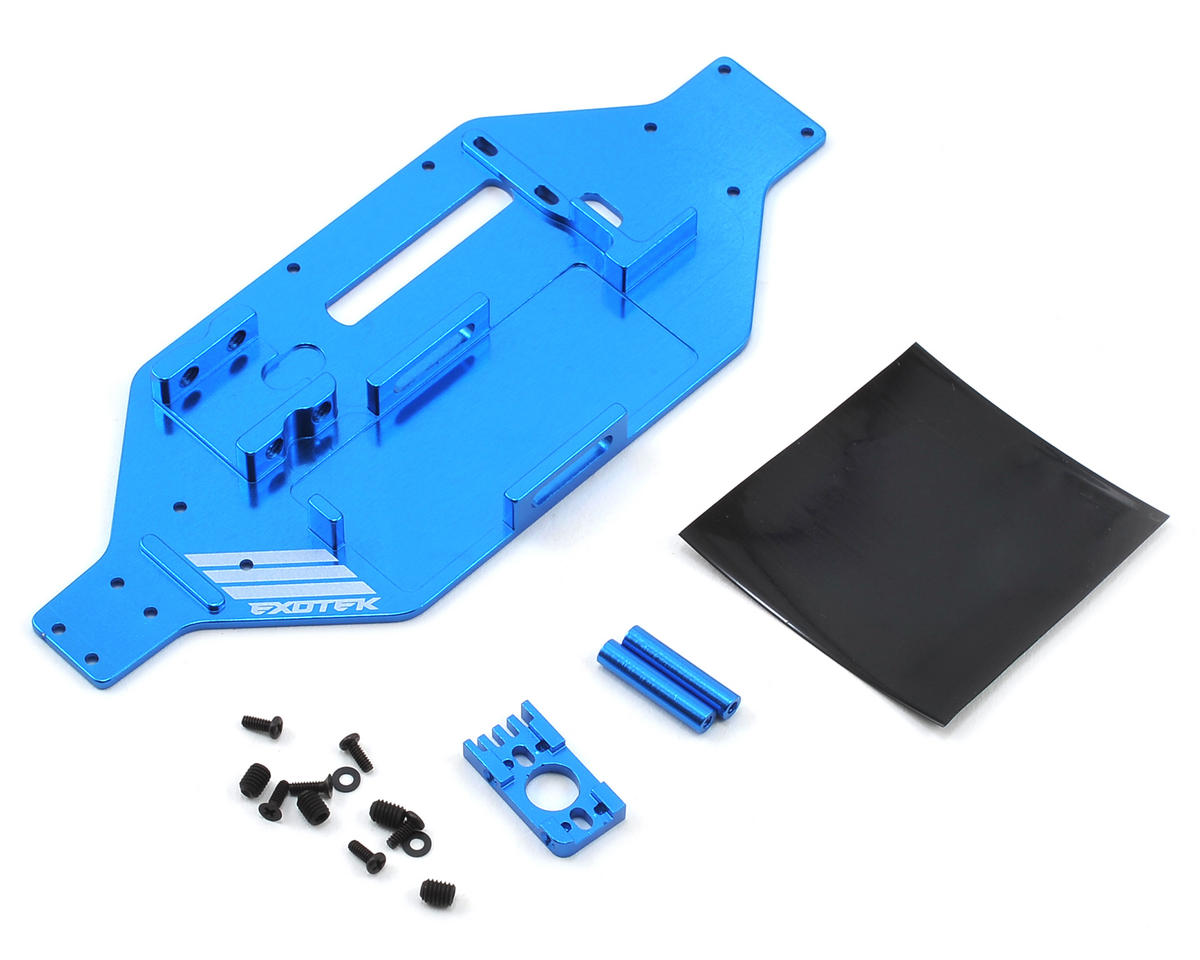 Exotek Racing Alloy Micro SCTE/Rally Micro-Tek Chassis Conversion (Blue) (Losi Truggy)
