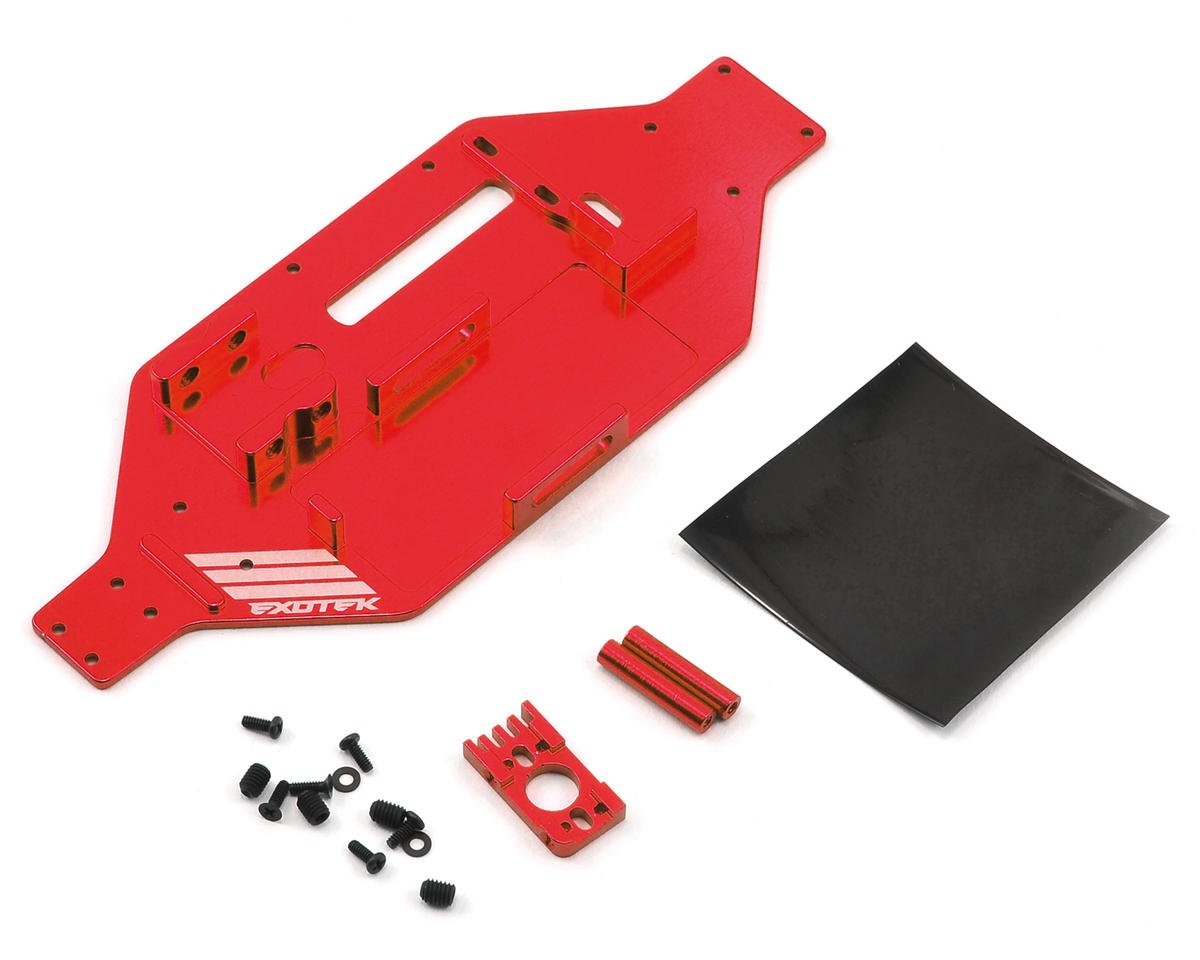 Exotek Racing Micro SCTE/Rally Micro-Tek Chassis Conversion (Red) (Losi Truggy)