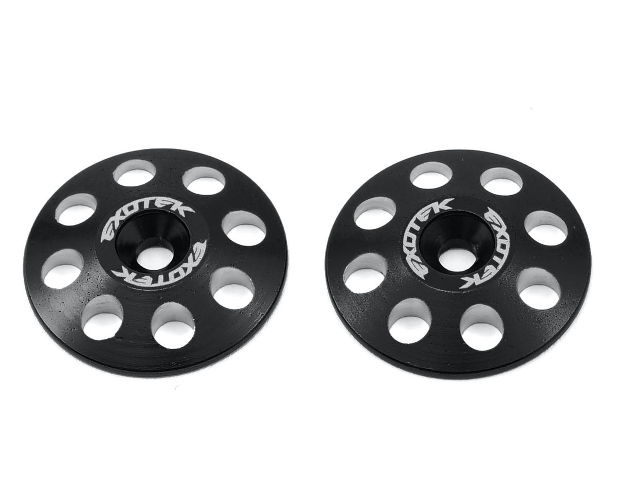 Exotek Racing 22mm 1/8 XL Aluminum Wing Buttons (2) (Black) (JQ Products THE Car (1st Edition))