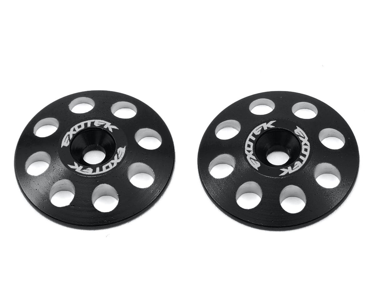 Exotek Racing 22mm 1/8 XL Aluminum Wing Buttons (2) (Black) (HB Ve8)