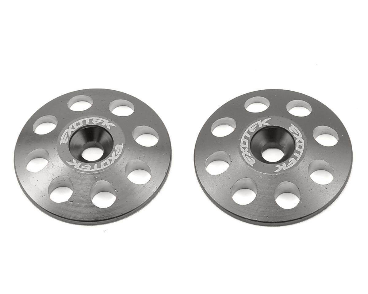 Exotek Racing 22mm 1/8 XL Aluminum Wing Buttons (2) (Gun Metal) (Team Associated RC8B)