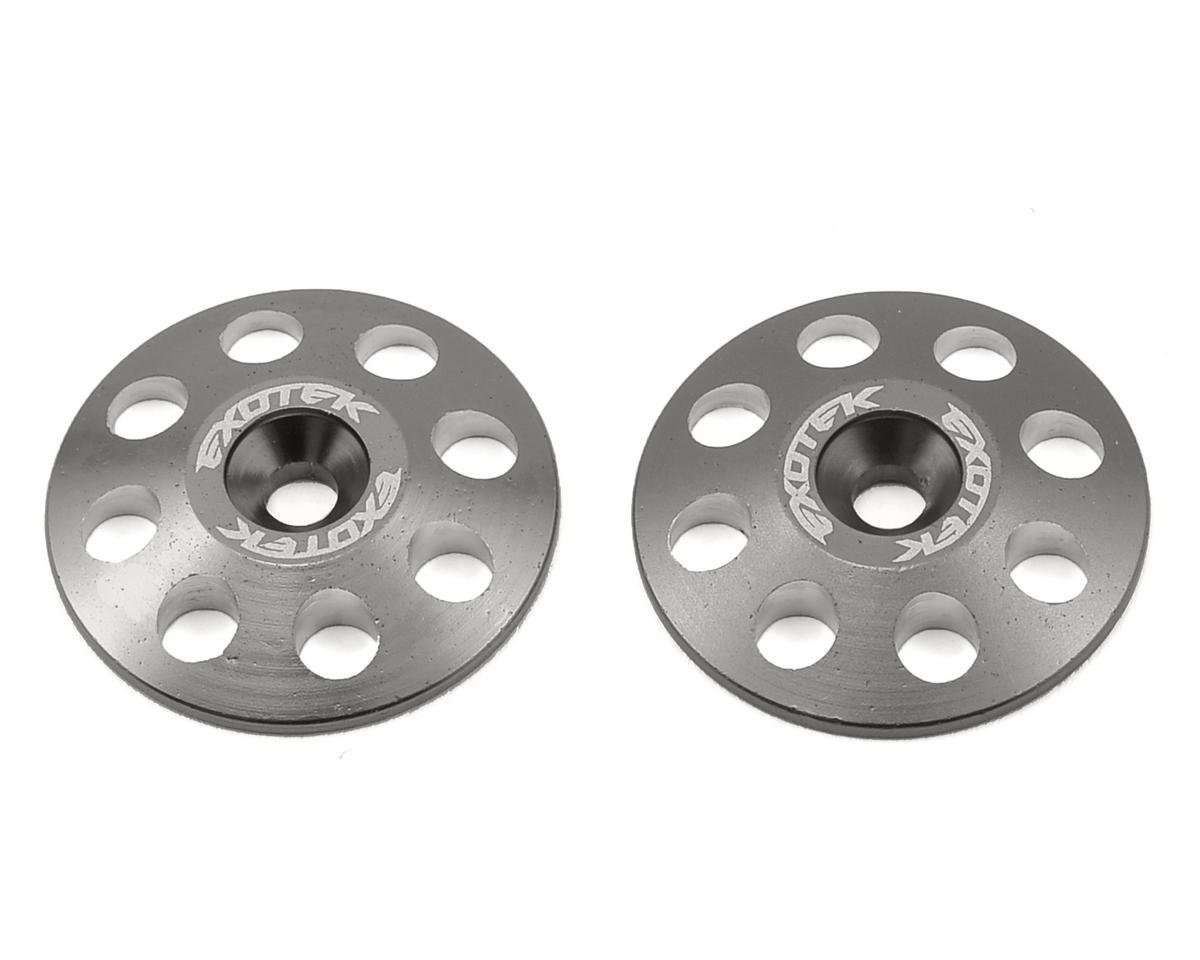 Exotek Racing 22mm 1/8 XL Aluminum Wing Buttons (2) (Gun Metal) (Team Associated RC8T)