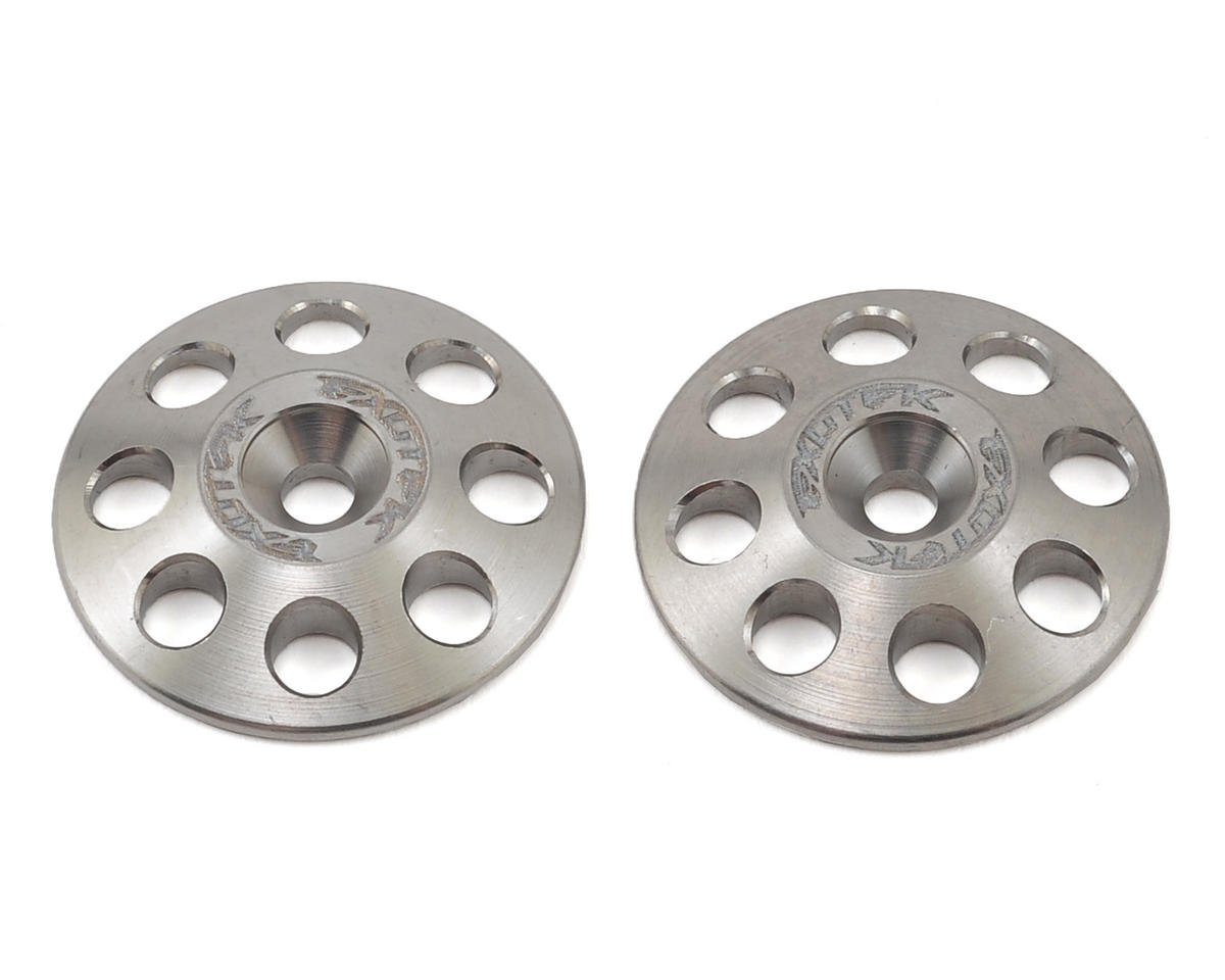 Exotek Racing 22mm 1/8 XL Titanium Wing Buttons (2) (JQ Products THE Car (RTR))