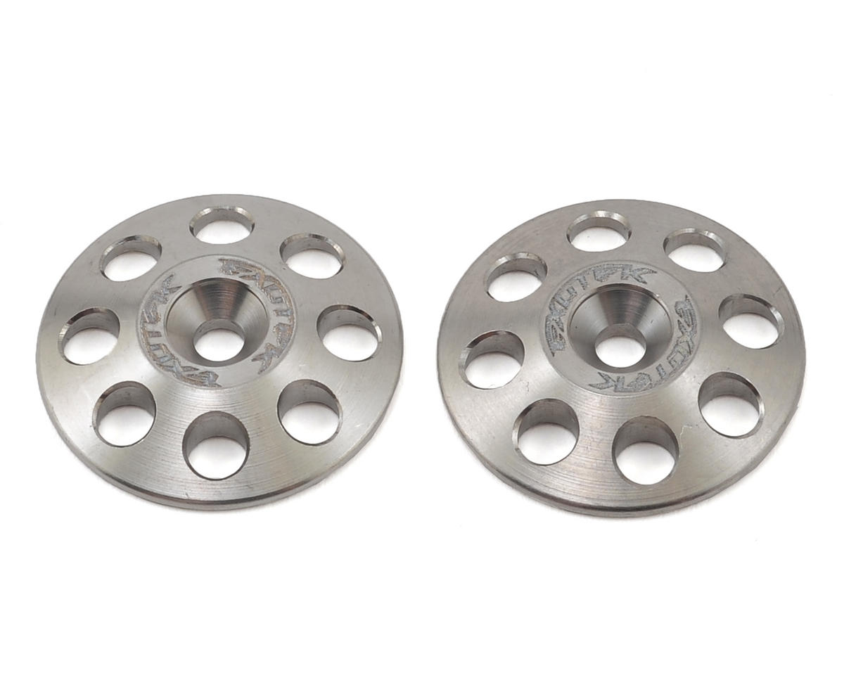 Exotek Racing 22mm 1/8 XL Titanium Wing Buttons (2) (Team Durango DNX408)