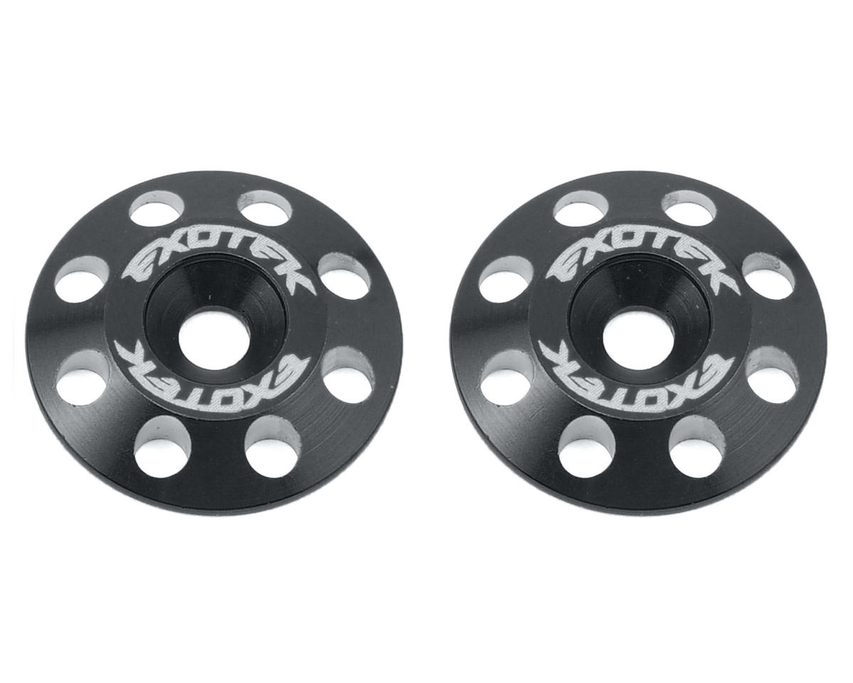 Exotek Racing Flite V2 16mm Aluminum Wing Buttons (2) (Black)