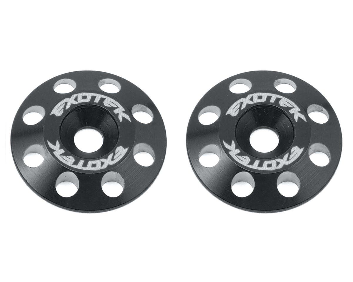 Exotek Racing Flite V2 16mm Aluminum Wing Buttons (2) (Black) (Schumacher Cougar KR)