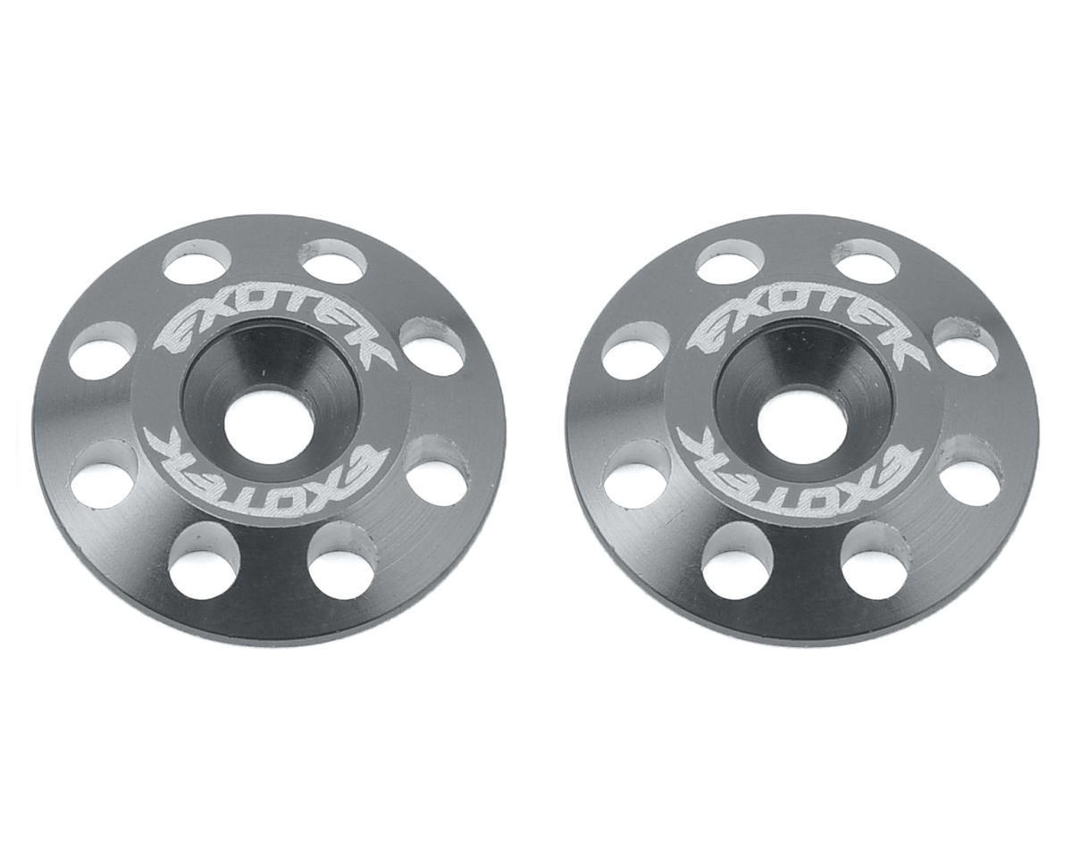 Exotek Racing Flite V2 16mm Aluminum Wing Buttons (2) (Gun Metal) (Schumacher Cougar KF2 SE)