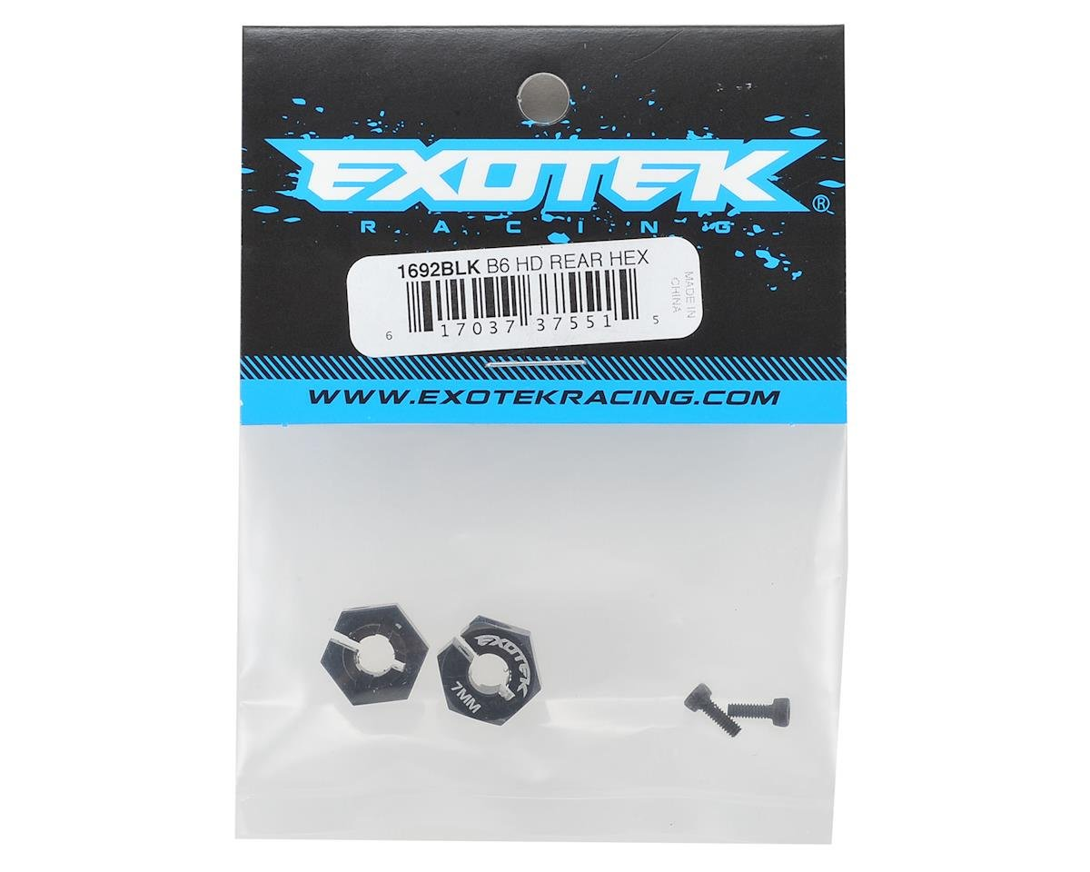 Exotek Racing 12mm B6 HD Aluminum Hex (Black) (2)