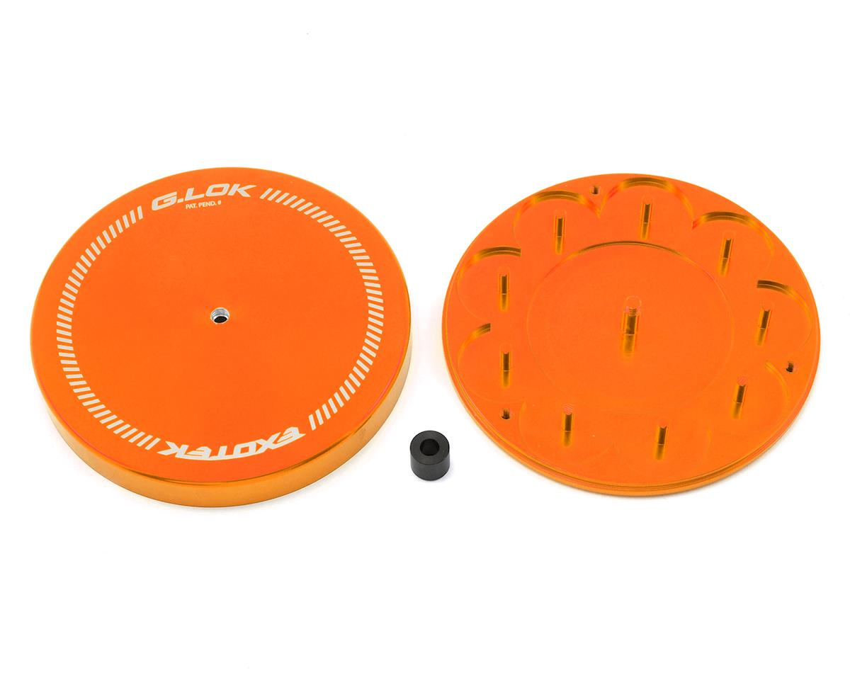 G.LOK Gear Locker Pinion & Spur Gear Case w/Parts Tray (Orange) by Exotek Racing