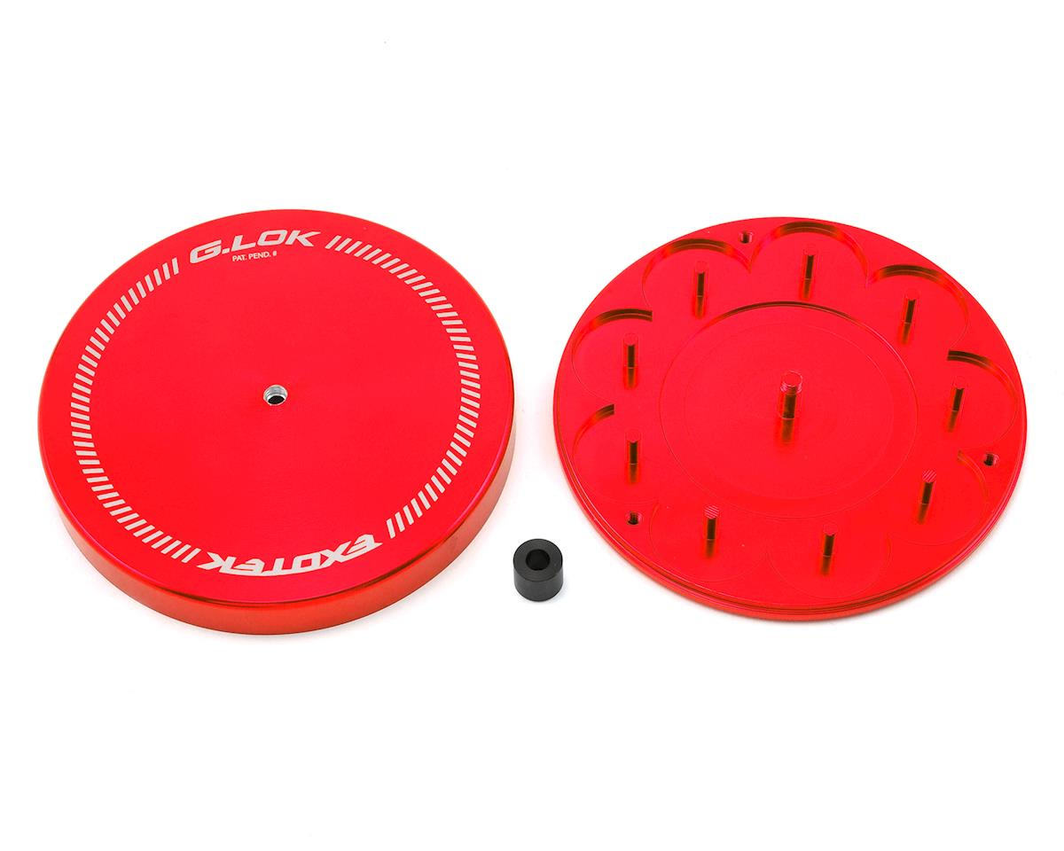 Exotek Racing G.LOK Gear Locker Pinion & Spur Gear Case w/Parts Tray (Red)