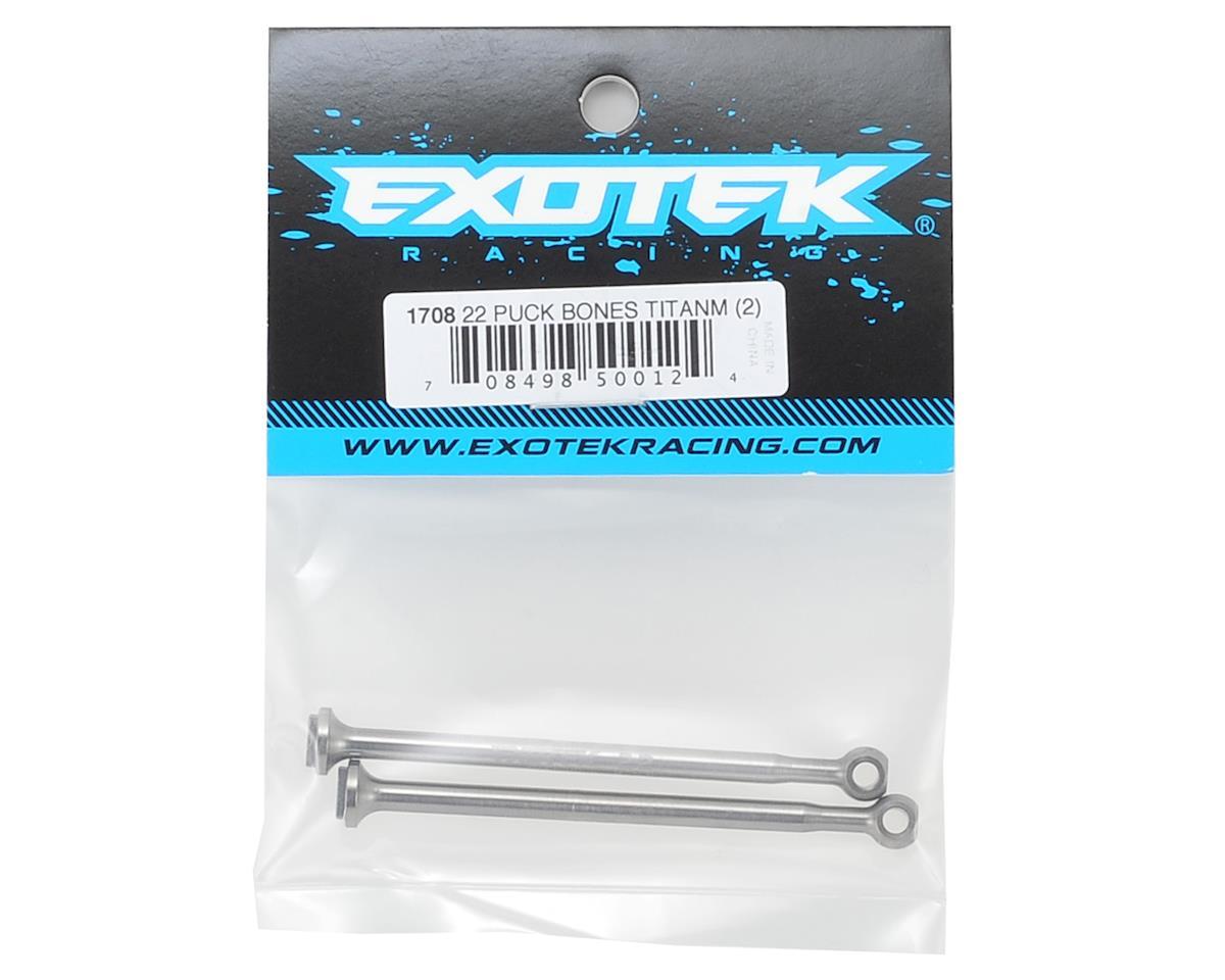 Exotek TLR 22 3.0 HD Titanium Bi-Metal Puck Bones (2)