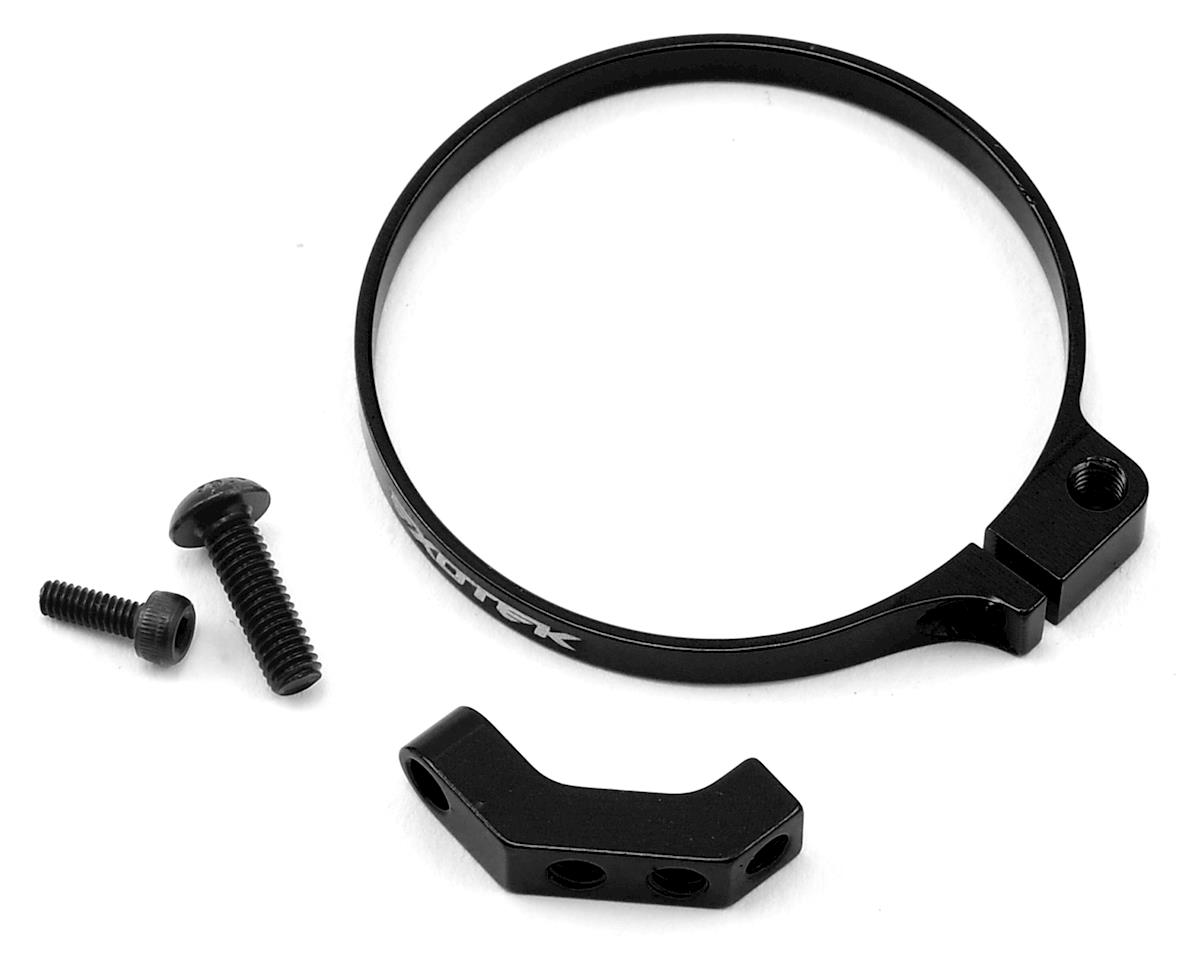 Exotek Angled Clamp On Fan Mount (Black) (Team Associated RC10 SC5M)