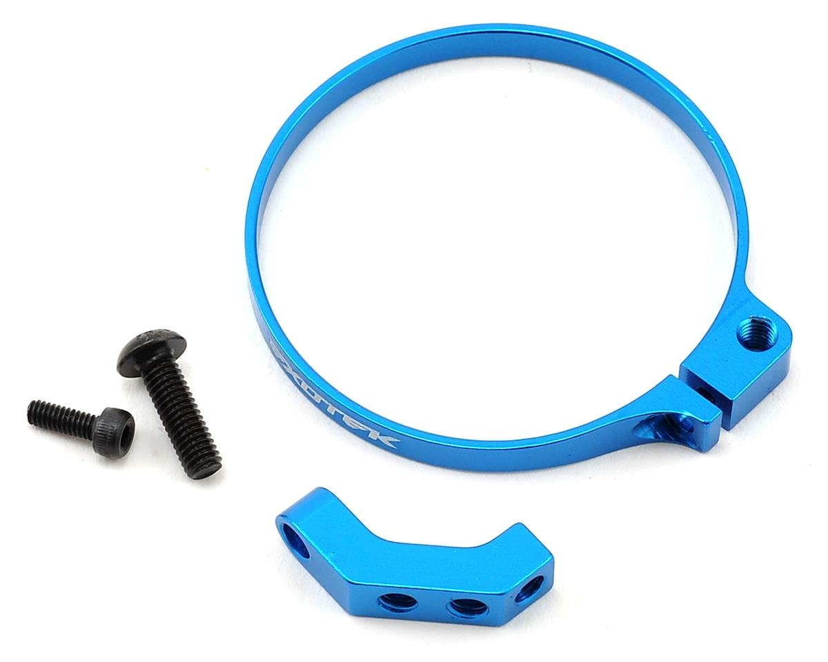 Exotek Angled Clamp On Fan Mount (Blue) (Kyosho Ultima RB6)