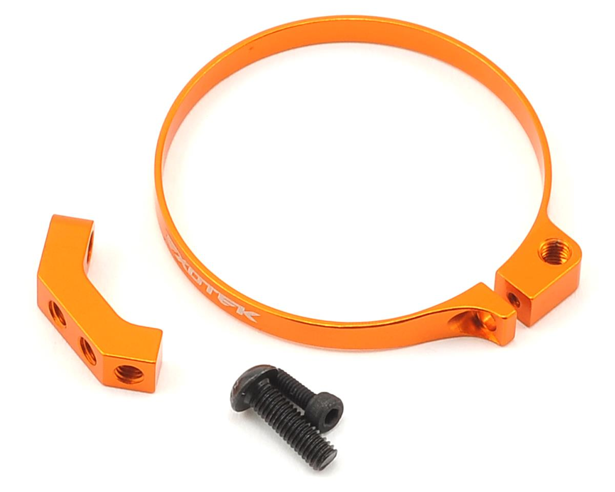 Exotek Racing Angled Clamp On Fan Mount (Orange) (Team Associated RC10 T4)