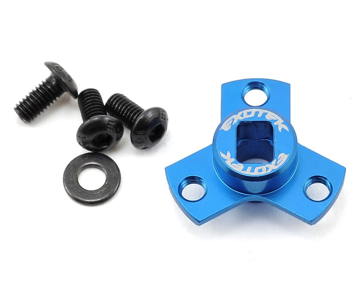 Flite Ultra Light Direct Spur Mount (Blue) by Exotek (Kyosho Ultima RB6.6)