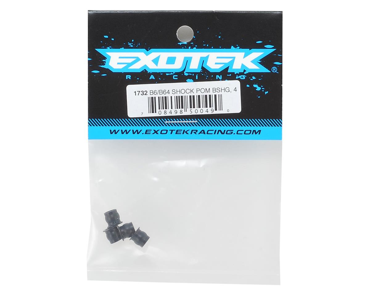 Exotek Racing B6/B6D Machined Shock Bushing (4) (Black)