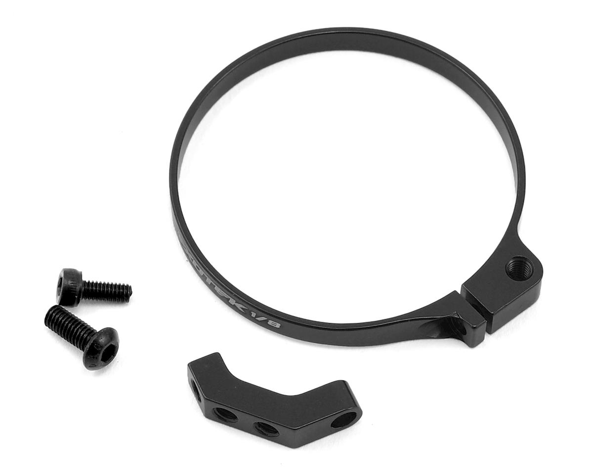 Exotek 1/8 E-Buggy Clamp On Fan Mount (Black) (Team Associated RC8B3e)