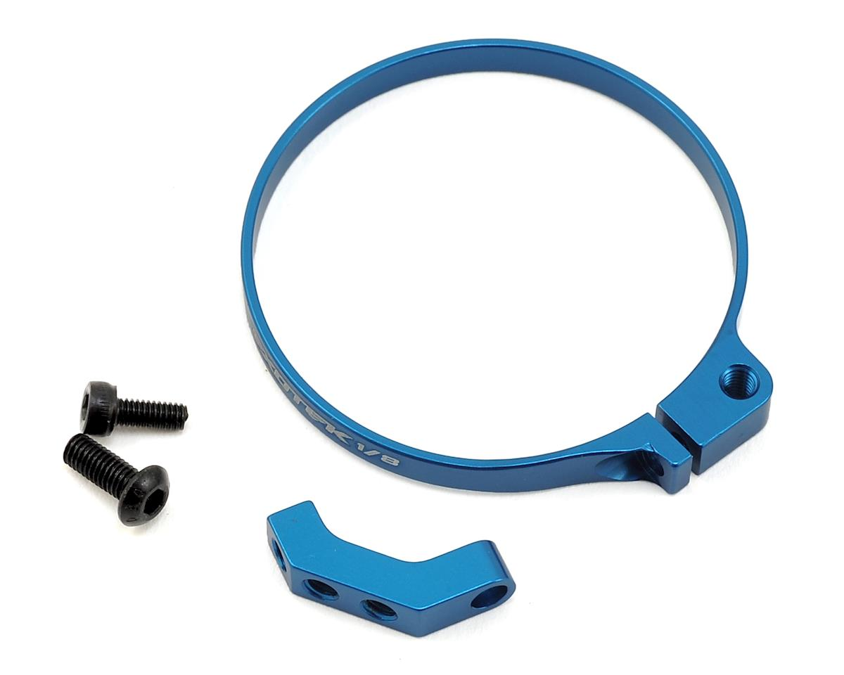 Exotek 1/8 E-Buggy Clamp On Fan Mount (Blue) (Team Associated RC8B3.1e)