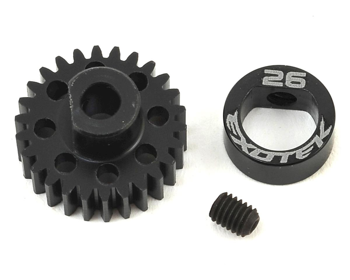 Exotek Flite 48P POM Pinion Gear w/Alloy Collar (3.17mm Bore) (Serpent Spyder SRX-2 SC)