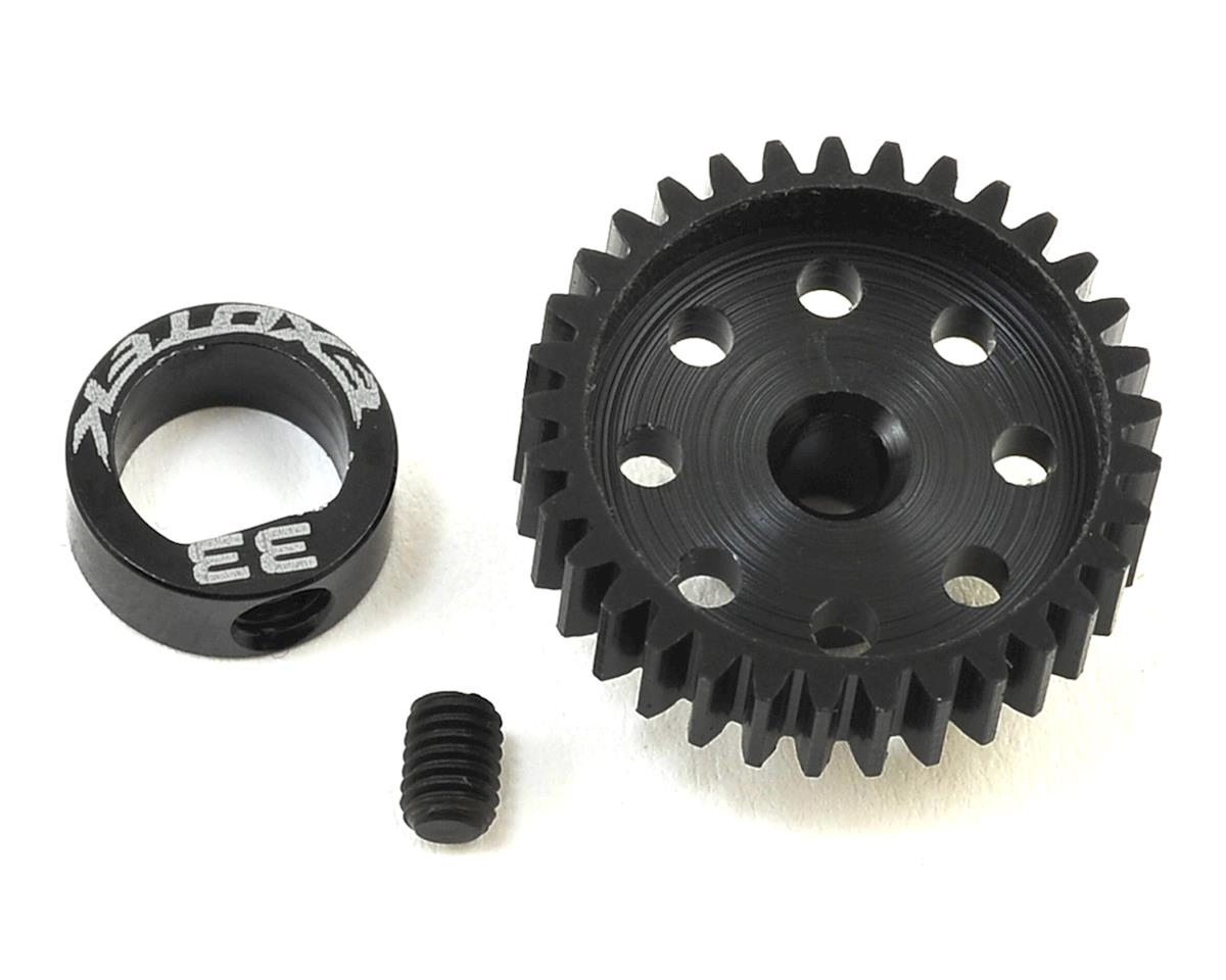 Flite 48P POM Pinion Gear w/Alloy Collar (3.17mm Bore) (33T) by Exotek