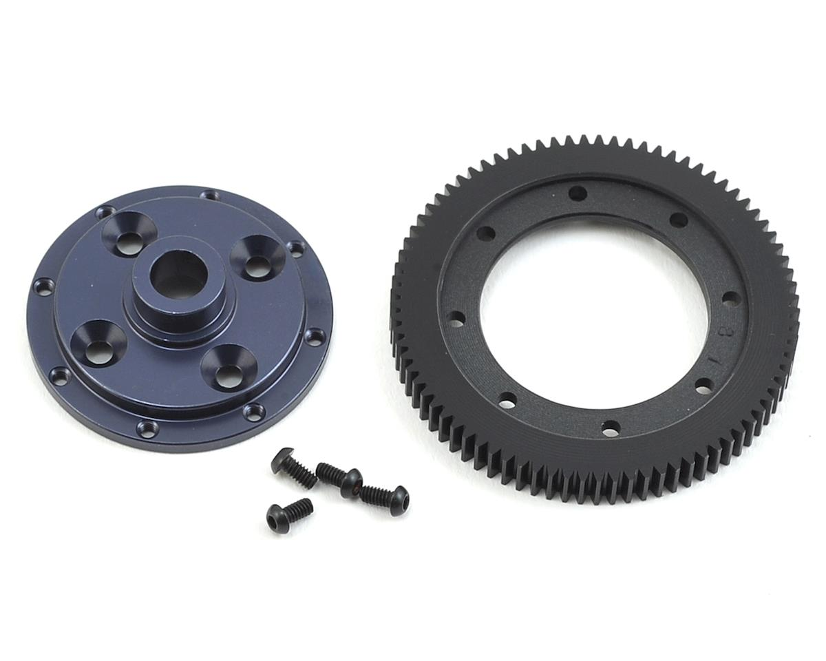 Tekno RC EB410 48P Machined Spur Gear & Mounting Plate (81T) by Exotek