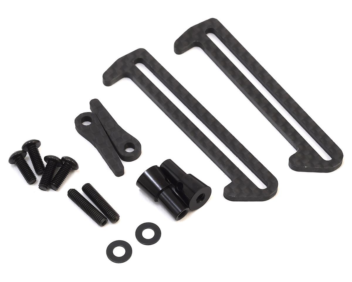 Exotek Carbon Fiber XB2/XT2 LiPo Tabs & Cups Set (XRAY XB2 Dirt)