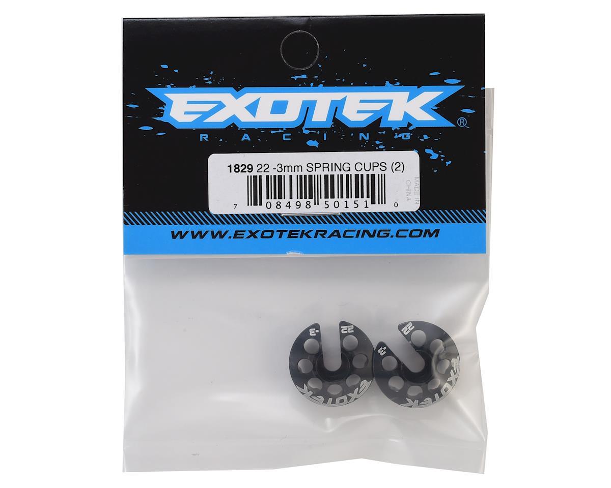 Exotek -3mm TLR 22 Alloy Spring Cups (2)