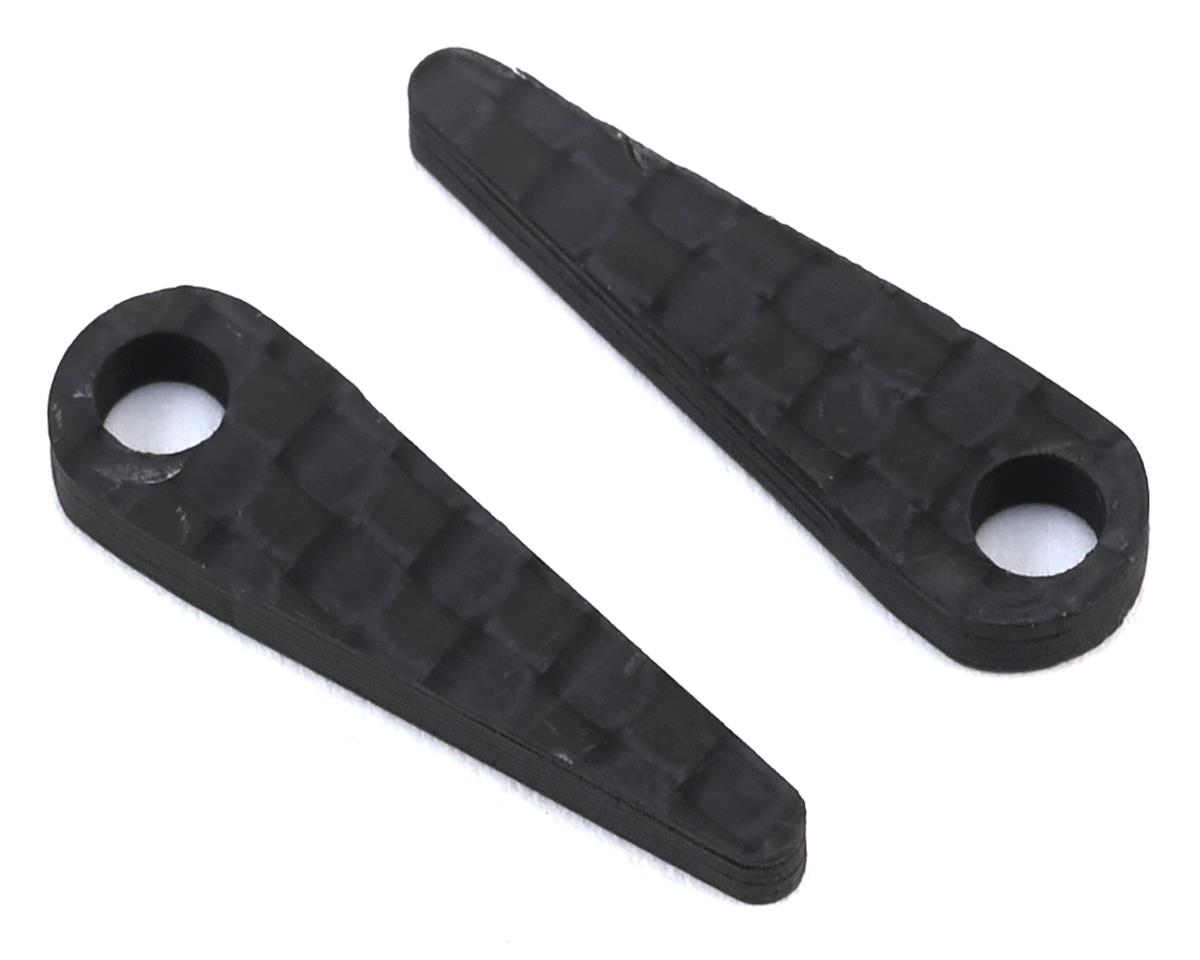 Carbon LiPo Battery Hold Tabs (2) by Exotek