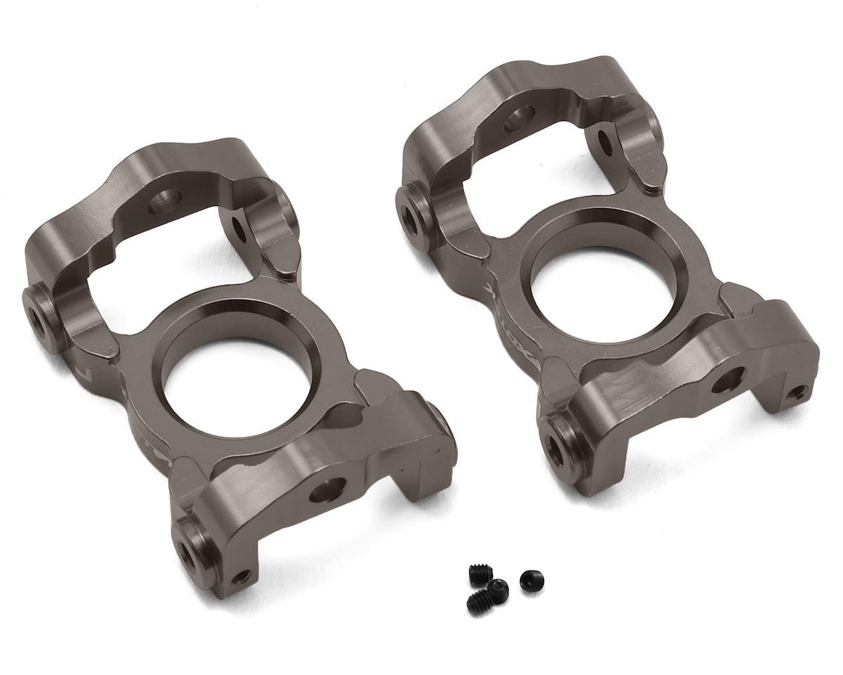 Exotek Losi LST 3XL Aluminum Front C Hubs (Gun Metal) (2)