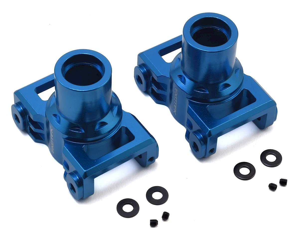 Losi LST 3XL Aluminum Rear Hubs (Blue) (2) by Exotek
