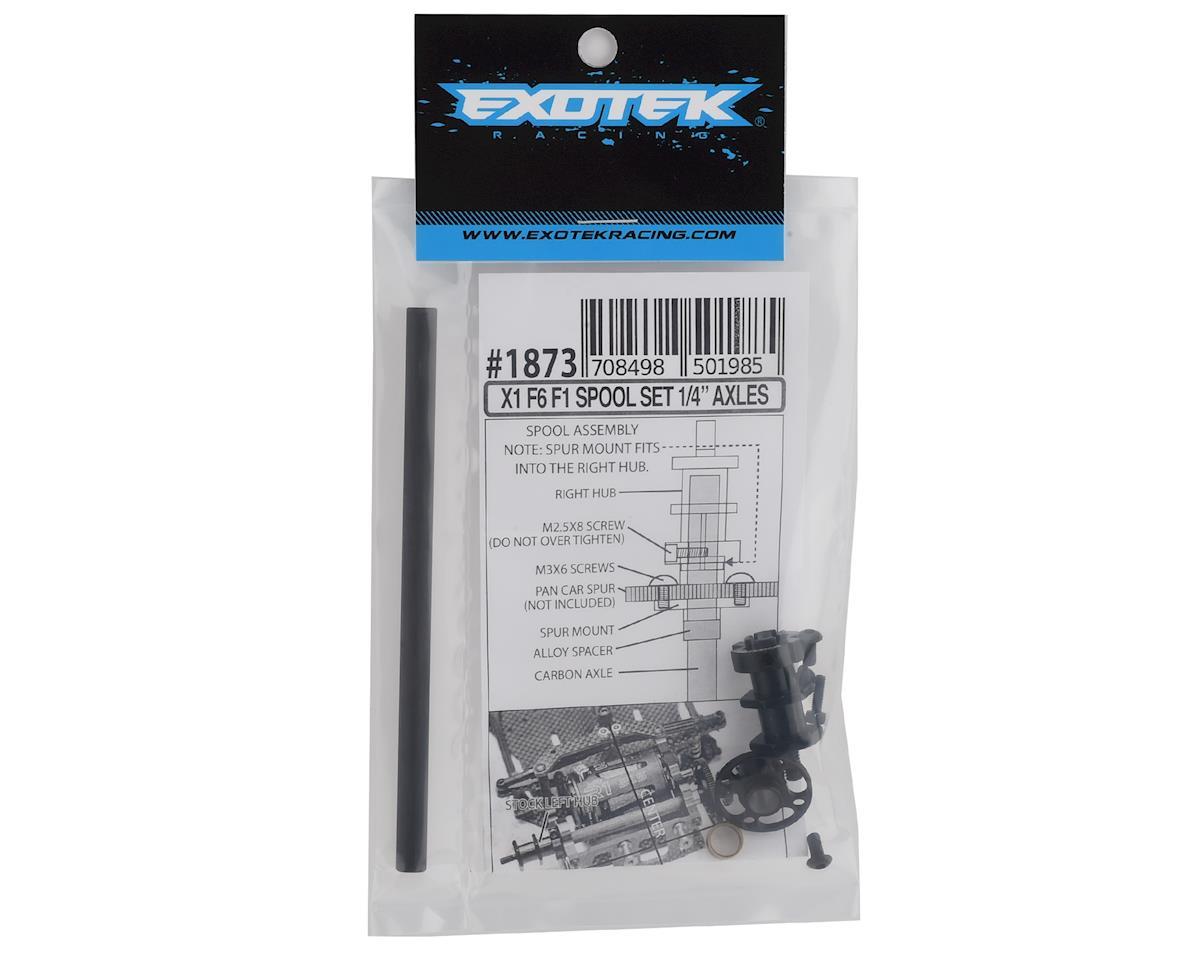 """Exotek F6 X1 Spool Set w/1/4"""" Carbon Axle & Right Hub"""