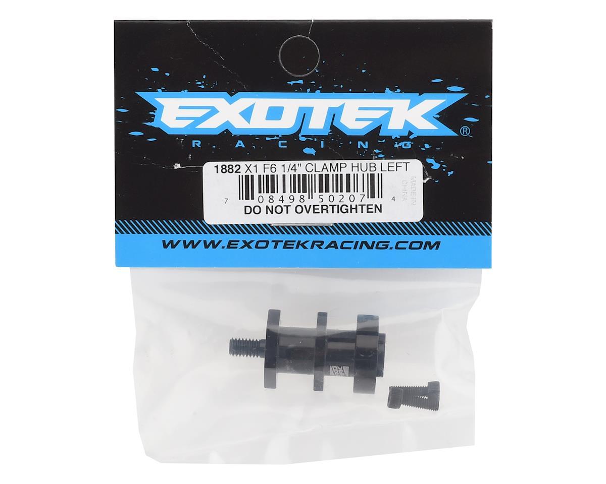 "Exotek RC10F6/X1 F1 Left 1/4"" Axle Clamping Hub"