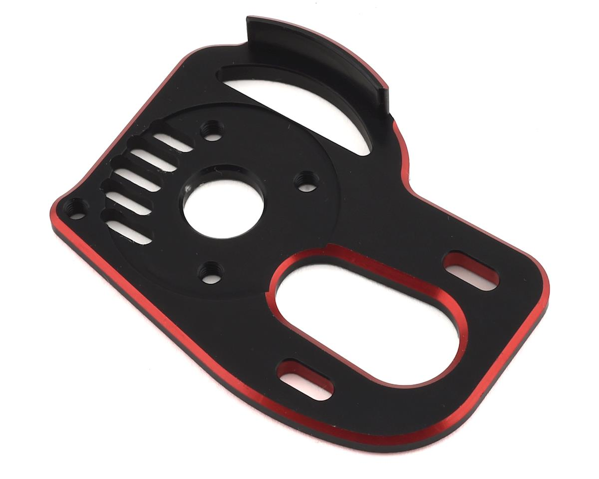 Exotek RB7 HD Laydown Motor Plate w/Gear Cover (Black/Red)
