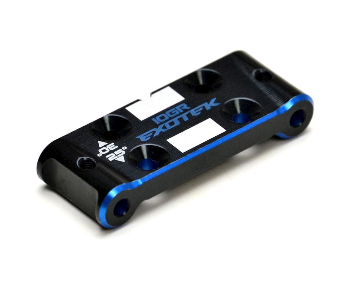Exotek B6.1/B6.1D Aluminum Bulkhead (Black/Blue) (Team Associated RC10 B6D)