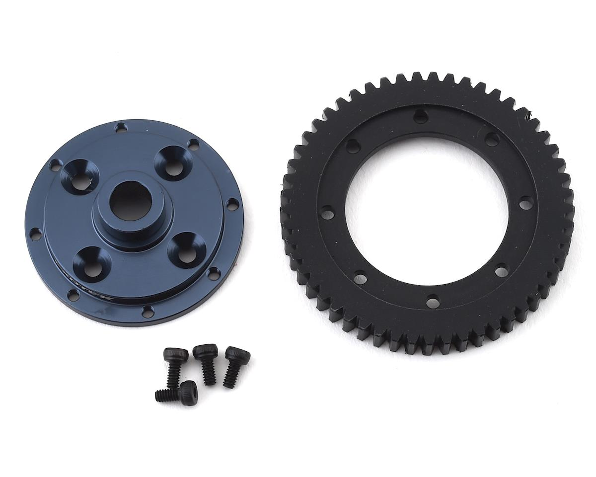 Exotek ET410 Machined 32P Spur Gear & Mounting Plate (53T)