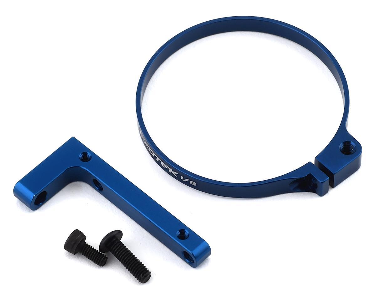 Exotek 1/8 V2 E-Buggy Clamp On Fan Mount (Blue)
